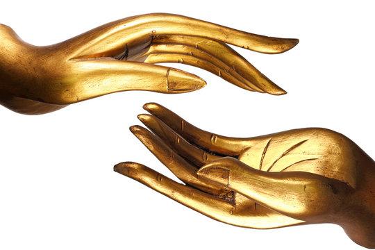 Hand Buddha gold
