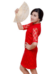 Beautiful Asian woman in traditional chinese costume
