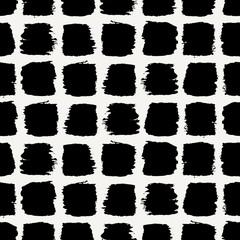 Fototapete - Brush Strokes Seamless Pattern