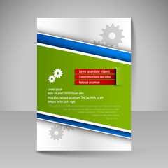 Template of flyer for business brochures, presentations, website