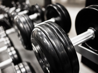 Dumbbell Weights Rack at a Healthclub  Gym