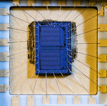 The silicon crystal memory chips