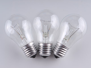 lightbulbs on a gray background