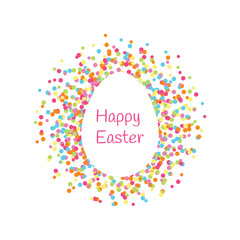 Happy Easter greeting card. Vector illustration. EPS 8.