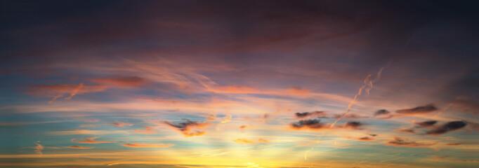 sunset sky panorama