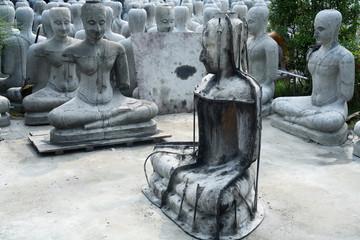 molding buddha statue.
