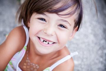 Lovely little girl smilling