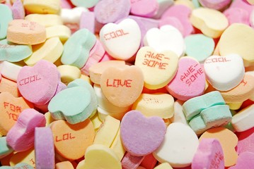 Candy heart background, great for Valentine's Day projects