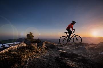 Cycliste et concept évasion
