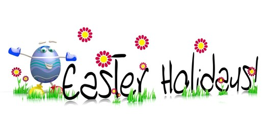 easter holiday banner Easter egg Character