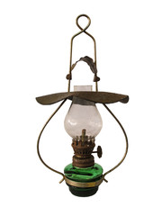 Old antique oil lamp