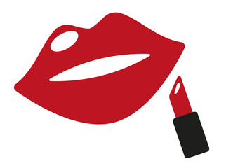 Roter Lippenstift Vektor