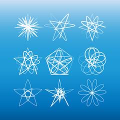 Vector kaleidoscope design elements