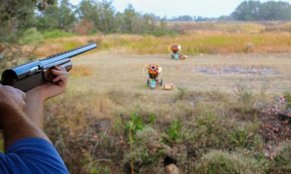Sporting Clay Skeet Shooting