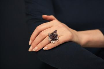 Ring in shape of  flower