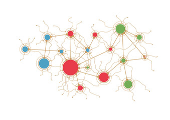 Data network design with clusters