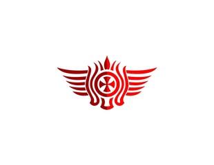 emblem cross ornament logo