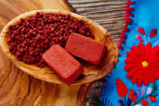 Achiote seasoning annatto seed Mexico popular