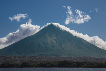 concepcion volcano photography from water. Ometepe island, Nicaragua