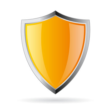 Yellow secure shield icon
