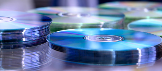 Blue cd stack