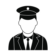 Train conductor black simple icon