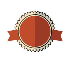 New red vintage badge