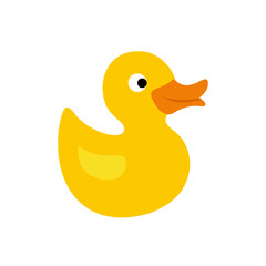 Duck toy flat icon
