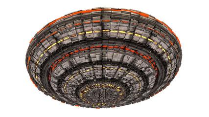 Futuristic UFO alienship concept