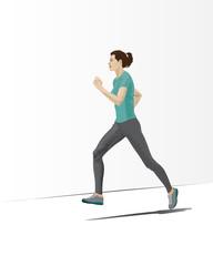 Running woman.