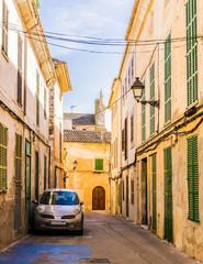 Wall Mural - View of a old mediterranean rustic alleyway