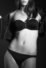 sexy girls brunettes in erotic clothing