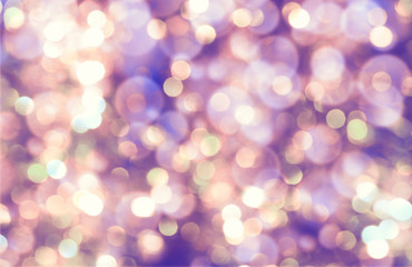 colorful abstract bokeh background, purple color