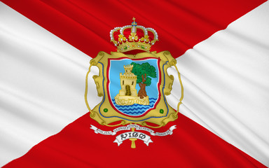 Flag of Vigo is a city in the province of Pontevedra, in Galicia