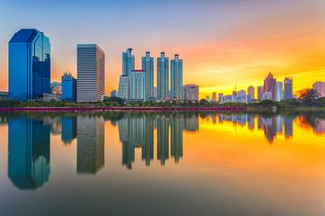 Cityscape modern condominium, Bangkok, Thailand at twilgiht sky,