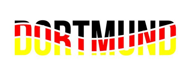 Dortmund flag typo vector