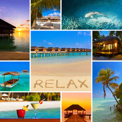 Collage of Maldives beach images (my photos)
