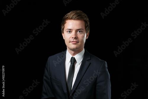 Bewerbungsfoto Junger Mann Im Business Anzug Stockfotos Und