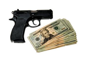 Handgun & cash