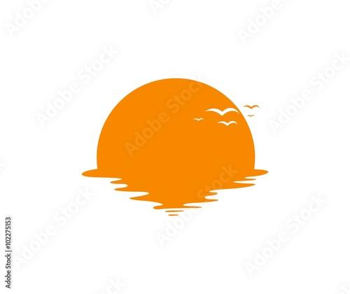 sunset logo stock image and royalty free vector files on fotolia rh fotolia com free vector sun rays free vector sunrise