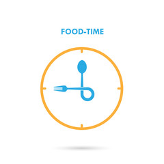 Food Time,Lunch Time icon.Eatting time concept.Fork and spoon si