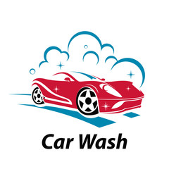 Sport Super Car Wash Cool Logo