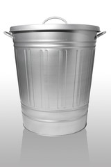 Trash can with lid