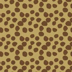 カーペット・絨毯(斑点模様)/ベージュ地にブラウンの石のような丸いつぶつぶをちりばめたデザイン。表面のざらざら感。