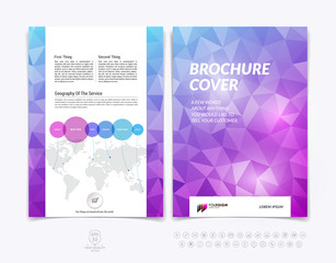 Brochure design, flyer, cover, booklet and report layout templat