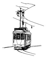 Printed roller blinds Art Studio Old tramway in Lisbon