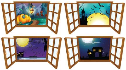 Halloween night from the window