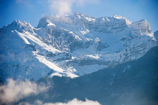 Snowed Tournette mountain