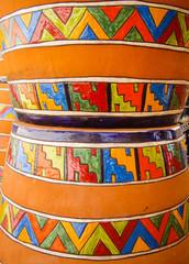 Traditional Mexican design pots