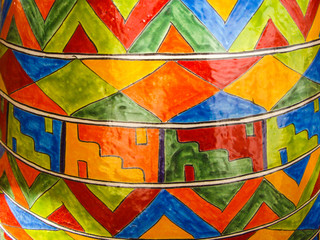 Southwest design on Mexican pottery
